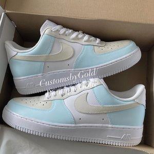 Nike Air Force 1 custom blue
